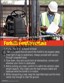 Forklift Fundamentals Poster