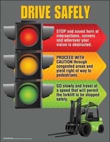 Drive Safely-Forklift Poster