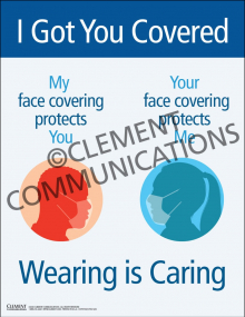 I Got You Covered. Wearing Is Caring Poster