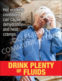 Hot Working Conditions Poster