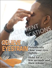 Relieve Eyestrain Poster