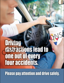 Driving Distractions Lead To Accidents Poster