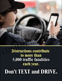 Distractions Contribute To Traffic Fatalities Poster