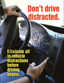 Don't Drive Distracted Poster