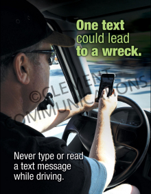 One Text Could Lead To A Wreck Poster