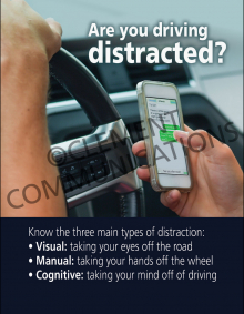 Are You Driving Distracted Poster