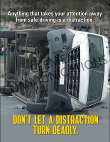 Don't Let A Distraction Turn Deadly Poster