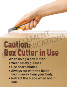 Box Cutter in Use Poster