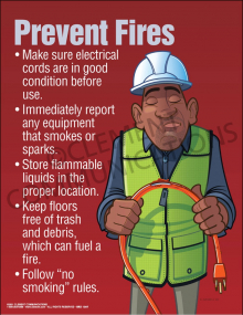 Prevent Fires - Electrical Poster