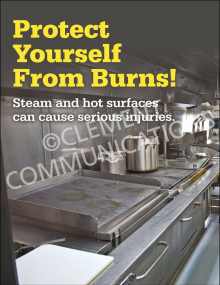 Protect From Burns Poster