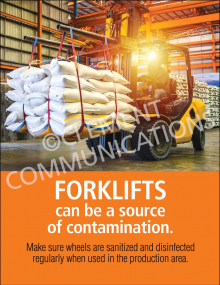Forklifts Contamination Poster