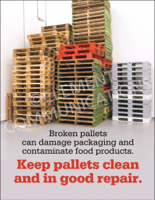 Keep Pallets Clean Poster