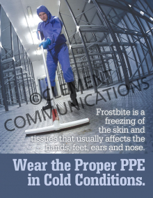 Food - Safety - Proper PPE Cold Conditions Poster