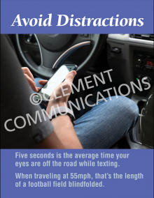 Avoid Distractions Poster