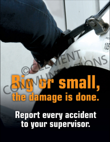 Big or Small, The Damage Is Done Poster