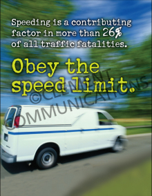 Obey The Speed Limit Poster