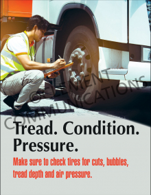Tread Condition Pressure Poster
