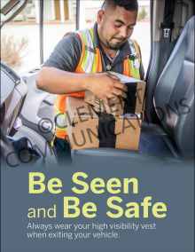 Be Seen And Be Safe Poster