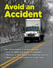 Avoid An Accident Poster