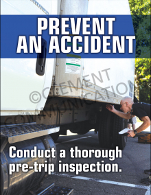 Prevent An Accident Poster