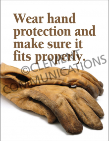 Wear Hand Protection Poster