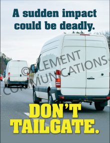 Don't Tailgate Poster