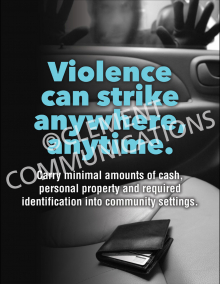 Violence Can Strike Poster