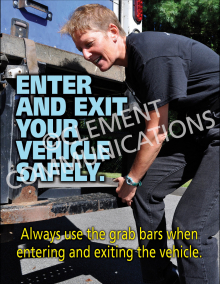 Enter And Exit Your Vehicle Safely Poster