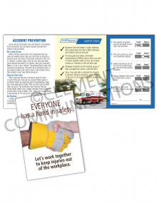 Accident Prevention - Hands - Safety Pocket Guide with Quiz Card
