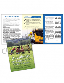 Accident Prevention - Wagon - Safety Pocket Guide with Quiz Card