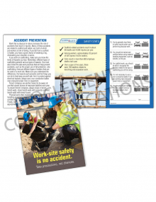 Accident Prevention - Work Site - Safety Pocket Guide with Quiz Card