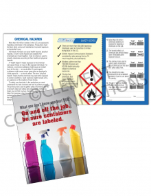 Chemical HazCom – Bottles – Safety Pocket Guide with Quiz Card | Clement