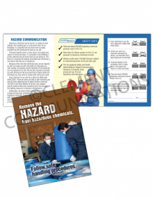 Chemical HazCom – Handling – Safety Pocket Guide with Quiz Card