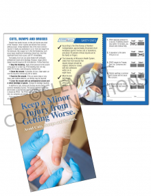 Cuts, Bumps and Bruises Safety Pocket Guide with Quiz Card