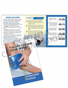 Sprains and Strains Safety Pocket Guide with Quiz Card