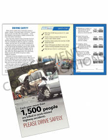 Driving Safely – Accident – Safety Pocket Guide with Quiz Card