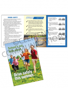 Driving Safely – School – Safety Pocket Guide with Quiz Card