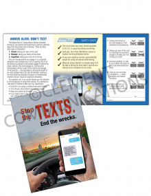 Driving Safely – Stop the Texts – Safety Pocket Guide with Quiz Card