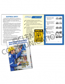 Electrical Safety – Your Life Depends on It – Safety Pocket Guide with Quiz Card