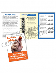 Electrical Safety – Plugs and Cords – Safety Pocket Guide with Quiz Card