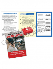 Emergency Preparedness – Count On You – Safety Pocket Guide with Quiz Card