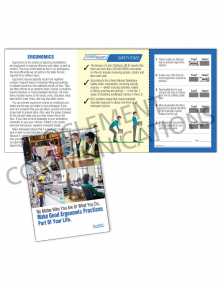 Ergonomics – Jobs – Safety Pocket Guide with Quiz Card