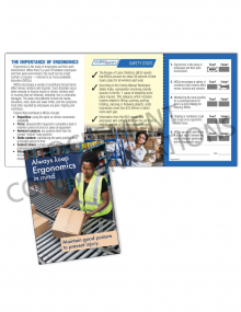 Ergonomics – Posture – Safety Pocket Guide with Quiz Card