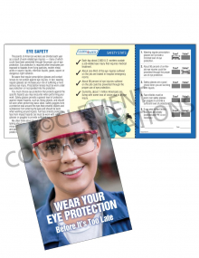 Eye Protection - Safety Goggles Safety Pocket Guide with Quiz Card