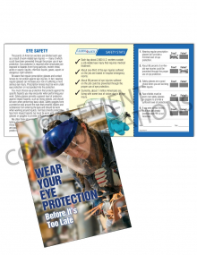 Eye Protection - Face Shield Safety Pocket Guide with Quiz Card