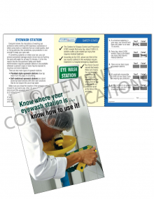 Eye Protection - Eyewash Station Safety Pocket Guide with Quiz Card