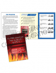 Fire Safety - Exit Sign Safety Pocket Guide with Quiz Card