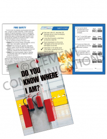 Fire Safety - Extinguisher Safety Pocket Guide with Quiz Card