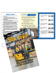Forklift Safety - Slow Down Safety Pocket Guide with Quiz Card