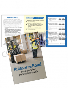 Forklift Safety - Pedestrians Safety Pocket Guide with Quiz Card